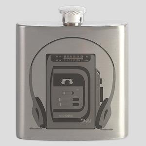 Vintage Tape Player Flask