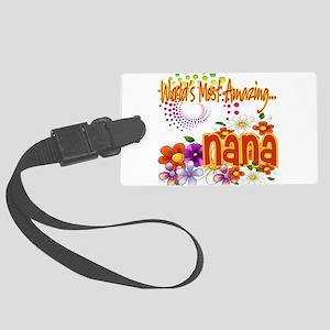 Amazing nana copy Large Luggage Tag