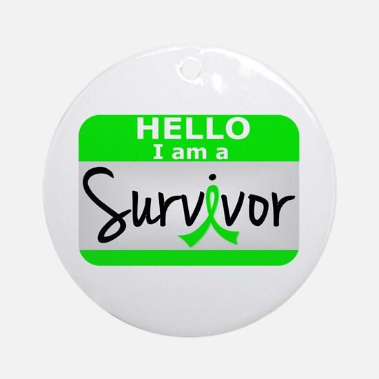 Lymphoma Survivor 24 Ornament (Round)
