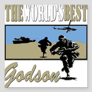 """Best Military Godson copy Square Car Magnet 3"""""""