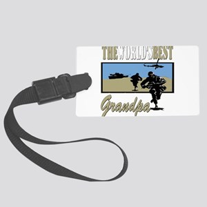 Best Military Grandpa copy Large Luggage Tag