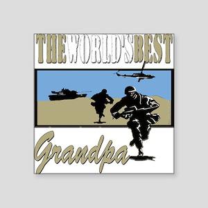 "Best Military Grandpa copy Square Sticker 3"" x"