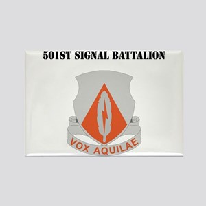 DUI - 501st Signal Battalion with Text Rectangle M