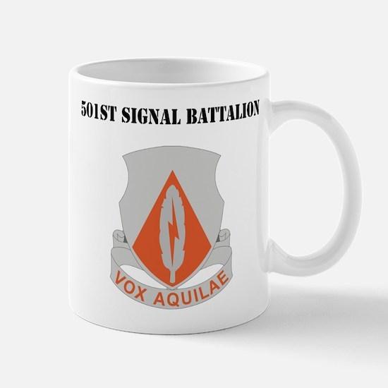 DUI - 501st Signal Battalion with Text Mug