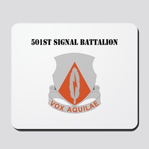 DUI - 501st Signal Battalion with Text Mousepad