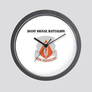 DUI - 501st Signal Battalion with Text Wall Clock