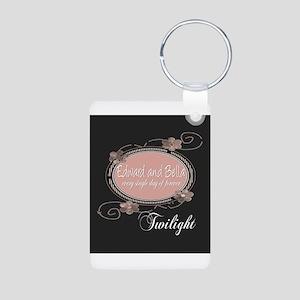 Twilight Edward and Bella Aluminum Photo Keychain
