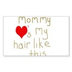 Mommy Loves it Sticker (Rectangle 50 pk)