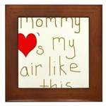 Mommy Loves it Framed Tile