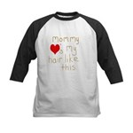 Mommy Loves it Kids Baseball Jersey