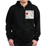 Mommy Loves it Zip Hoodie (dark)