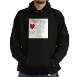Mommy Loves it Hoodie (dark)