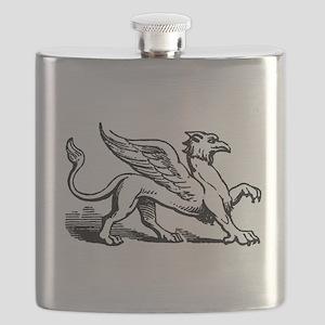 Griffin Illustration Flask