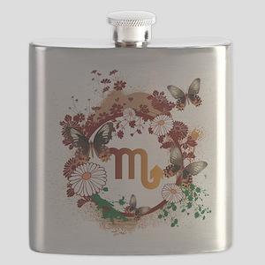 Psychedelic Scorpio Flask