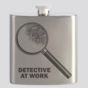 Detective At Work Flask