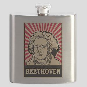 Pop Art Beethoven Flask