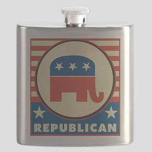 Retro Republican Flask