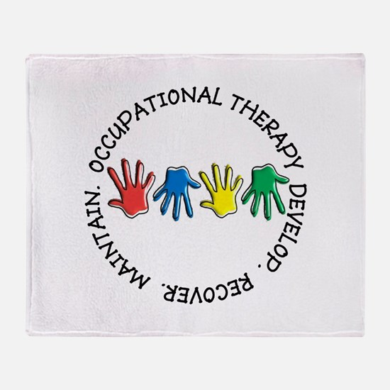 OT CIRCLE HANDS 2.PNG Throw Blanket