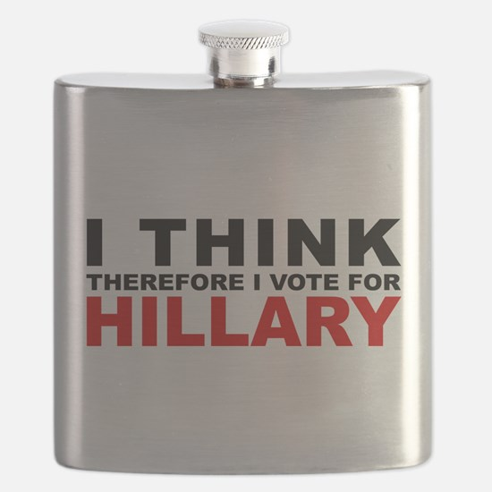 Vote For Hillary Flask