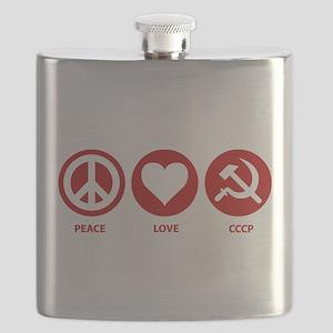 Peace Love CCCP Flask