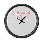 Rockin Large Wall Clock