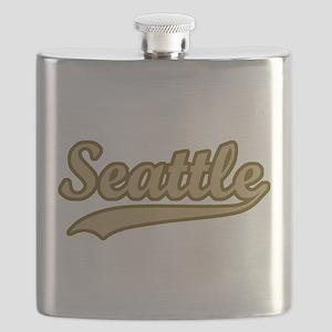 retro Seattle Flask