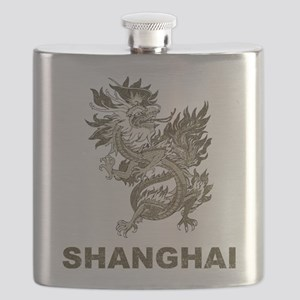 Vintage Shanghai Dragon Flask