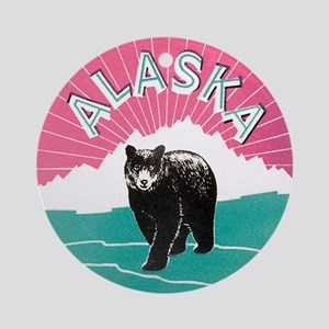 Alaska Bear Ornament (Round)