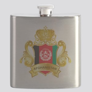 Gold Afghanistan Flask