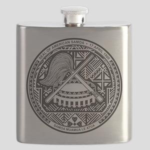 American Samoa Coat Of Arms Flask