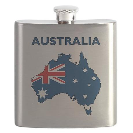 Map Of Australia Flask