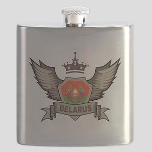 Belarus Emblem Flask