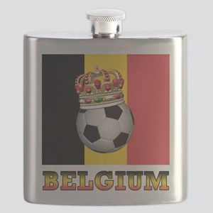 Belgium Football Flask