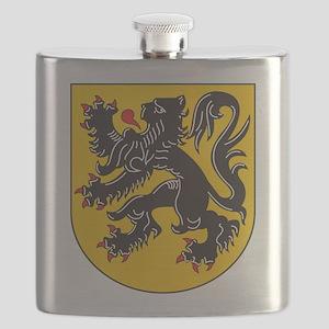 Flanders Coat Of Arms Flask