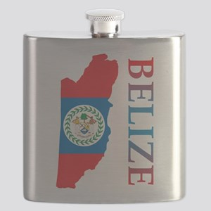 Map Of Belize Flask