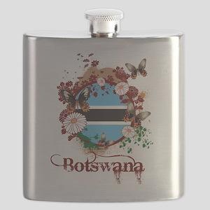 Butterfly Botswana Flask