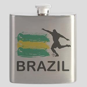 Brazil Football Flask