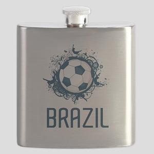 Hip Brazil Football Flask