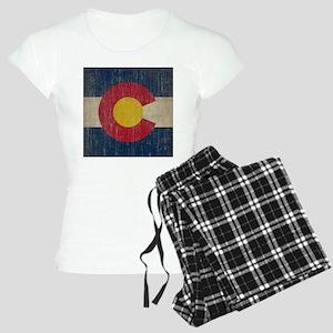 Vintage Colorado Flag Women's Light Pajamas