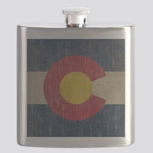 Vintage Colorado Flag Flask