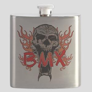 BMX skull 2 Flask