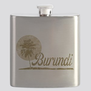 Palm Tree Burundi Flask