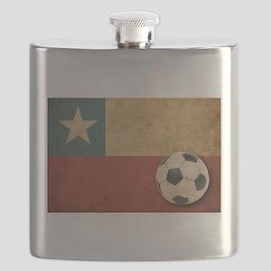 Vintage Chile Flag Flask