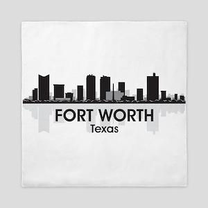 Fort Worth Skyline Queen Duvet