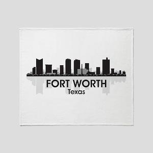 Fort Worth Skyline Throw Blanket