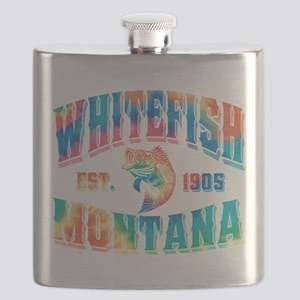 Whitefish Fish 1905 Black Flask