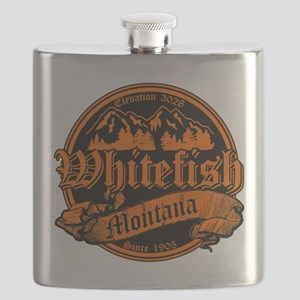 Whitefish Old Canterbury Solid Orange Flask