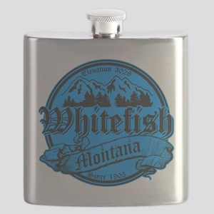 Whitefish Old Canterbury Invert Blue Flask