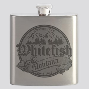 Whitefish Old Canterbury Invert Silver Flask