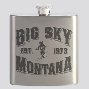 Big Sky Old Style Black Flask